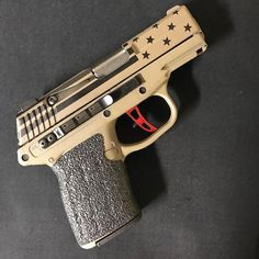 #Reposting @theesamboyd -- No filter needed on my @keltecweapons PF-9 customized by @gallowayprecision. They did an awesome job on the Flat Dark Earth Cerakote with the Stars and Stripes an aluminum shorter pull trigger stainless steel guide rod 20lb recoil spring set and reduced power spring set finishing it off with the @tractiongrips. Threw on an engraved @clipdraw and this thing is ready to roll.