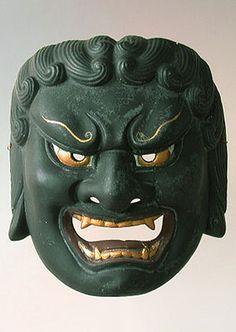 Japanese Fudo Mask - Noh theater of Japan