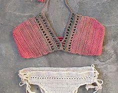 Ganchillo bikini traje de baño del ganchillo traje de baño