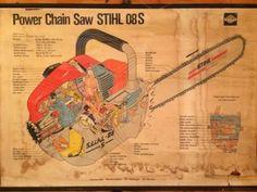 Vintage 1963 STIHL Paper Banner