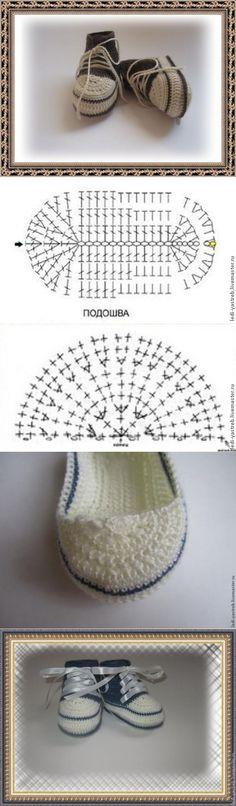 Вяжем пинетки-кеды - Ярмарка Мастеров - ручная работа, handmade