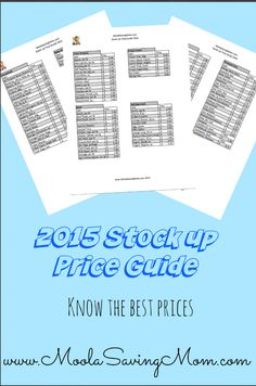 Updated 2015 Stock Up Price Guide