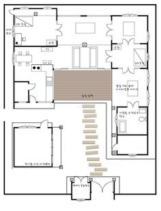 Traditional japanese house floor plan google search the sanggojae blueprint malvernweather Image collections