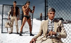 Enlisting fashion photographer Steven Klein for its spring-summer 2016 campaign, Versace travels to a California salt marsh.