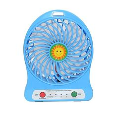 Introducing stardrift 4inch Portable Handheld 3 Speeds Mini USB Fan Cooling Desk Fan Powered by 18650 Rechargeable Lithium Battery or USB Cable Perfect for Home Office Outdoor Activities Use blue. Great product and follow us for more updates!