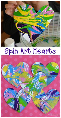 These spin art heart