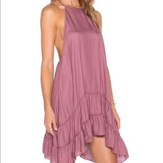 Free People Raven Slip Dress Lightweight and semi-sheer silky slip with a low racerback. New with tags. Free People Dresses