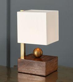 Brass Ball Walnut Boudoir Lamp – Blackman Cruz