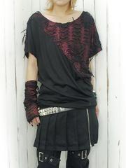 Leopard Distressed Dolman Cutsew / See more at http://www.cdjapan.co.jp/apparel/new_arrival.html?brand=DRT #Japan Fashion #harajuku