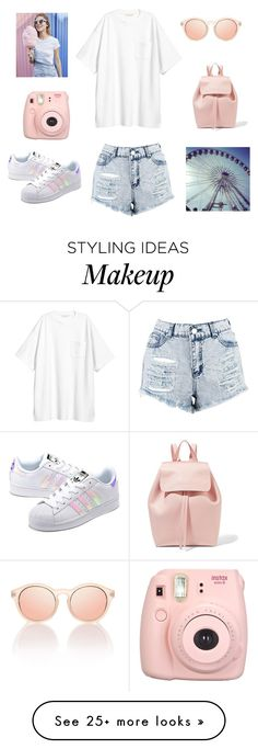 """Summer Amusement Park"" by daria-alexandra-711 on Polyvore featuring adidas Originals, Mansur Gavriel, H&M, Le Specs, Boohoo, Fujifilm, Summer, california, themepark and Socal"