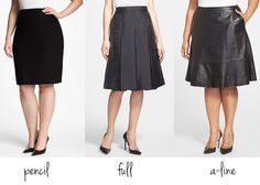 skirt shapes for hourglass figure