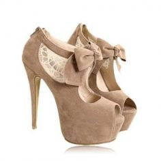 $15.93 Party Women's Peep Toed Shoes With Bowknot and High Heel Design