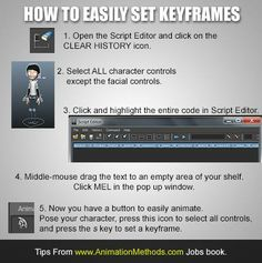 Setting keyframes with one button selection set.
