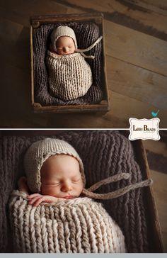 Asheville, newborn photographer  Libby Brady Photography   newborn knit photography wood