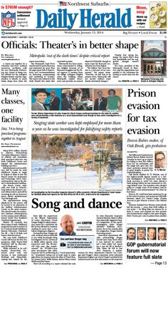 Daily Herald front page, Jan. 15, 2014; http://eedition.dailyherald.com/