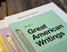 Great American Writings book design project / short writings collection by Erik Anthony Hamline