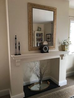 Mantle Fireplace Shelf Over Mantel Floating Piece Victorian Style Solid Pine Wood Kitchen Oven Wall White Mantle Fireplace, Wood Mantel Shelf, Wooden Mantle, Family Room Fireplace, Wooden Wall Shelves, Fireplace Shelves, Stove Fireplace, Fireplace Mantels, Fireplace Ideas
