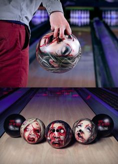 zombie bowling ball. weird-things - again, the cousin didn't find this one but, @Mary Sue needs one.