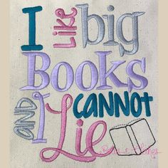 Big Books Book Pillow, Reading Pillow, Pillow Talk, Machine Embroidery Thread, Machine Embroidery Designs, Embroidery Ideas, Embroidery Machines, Embroidery Stitches, Pillow Inspiration