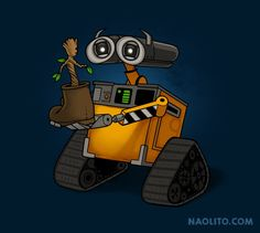 My life is now complete. Two of my favourites all rolled into one <3 Wall-E meets Guardians of the Galaxy.
