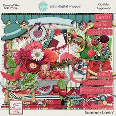 Summer Lovin' #graceblosssoms4U #digital #digitalscrapbook #scrapbookkit  #pagekit #photography #scrapbook