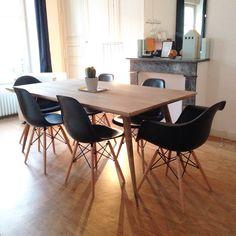 Awesome Table Maison Du Monde Et Chaises Noires Eames With Chaise Noire Noir
