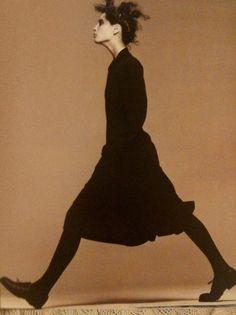 Christy Turlington photographed by Steven Meisel in Comme des Garcons