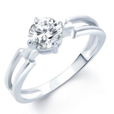 Sukkhi Delightful Rhodium Plated Solitaire CZ Ring