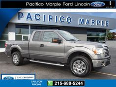 2012 Ford F-150 XLT Gray $27,494 39476 miles 215-688-5244 Transmission: Automatic  #Ford #F-150 #used #cars #PacificoMarpleFordLincoln #PikeBroomall #PA #tapcars