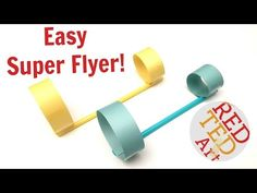 Straws Circle Paper Planes - S.T.E.M. for Kids - Red Ted Art's Blog