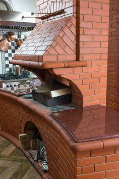 Outdoor Kitchen Ideas (Create a Perfect Ambience) Outdoor Kitchen Plans, Outdoor Oven, Outdoor Kitchen Design, Brick Cladding, Brickwork, Garden Fountains For Sale, Barbecue Four A Pizza, Pizza Oven Fireplace, Brick Bbq