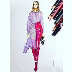 Перегляньте цю світлину в Instagram від @yidrawing_ • Вподобання: 37 Fashion Illustration Sketches, Fashion Sketches, Fashion Drawings, Illustrations, Ny Fashion Week, Woman Drawing, Hijab Fashion, Menswear, Clothes For Women