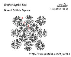 Crochet Geek : Crochet Wheel Stitch Square - Catherine's Wheel