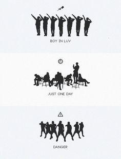 Dance evolution bts