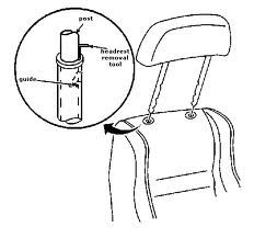 how to remove a headrest from a car -