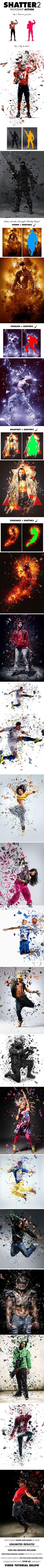Shatter2 Photoshop Action #photoeffect Download: http://graphicriver.net/item/shatter2-photoshop-action/13001535?ref=ksioks