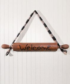 Look what I found on #zulily! 'Welcome' Rolling Pin Wall Art #zulilyfinds