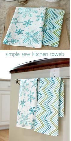simple sew kitchen tea towels