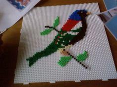 Bird hama perler beads by Jeannet Stotefalk: