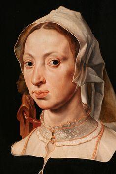 Maarten van Heemskerck Portrait of Machtelt Suijs, c. 1540-1545 | Flickr - Photo Sharing!