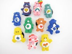 Scrapbook Lot of 10 Carebears Characters Jibbitz charms  for Croc shoes Craft