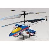 9020 4 Channel Stable Co-axial 4 CH R/C Helicopter RTF w/ Built in Gyro   LED Lights   Missiles - BLUE Color (Toy) newly tagged rc