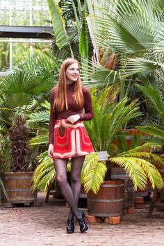 Retro Sonja Fashion Blogger Outfit Shoot Hortus Botanicus Amsterdam Dutch