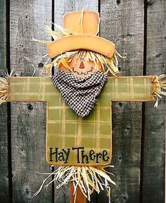 200046 Hay There Mini Stake-fall yard stake Beein creative with Mis wood kits wood parts wood crafts crafts patterns Fall Wood Crafts, Autumn Crafts, Thanksgiving Crafts, Holiday Crafts, Wood Scarecrow, Scarecrow Crafts, Fall Scarecrows, Arte Country, Country Crafts