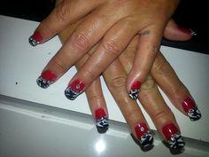 Red and black zebra print