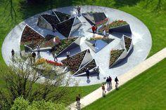 Круговые сады - дизайн автопар Arch Architecture, Landscape Architecture Design, Landscape Plans, Garden Landscape Design, Urban Landscape, Garden Mall, Tree Photoshop, Urban Park, Urban Farming