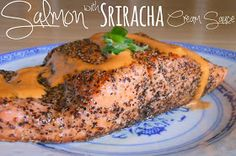 Sunny Days With My Loves - Adventures in Homemaking: Date Night Meals: Salmon with Sriracha Cream Sauce