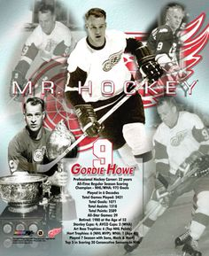Gordie Howe Mr. Hockey Detroit Red Wings Career Commemorative Premium Poster Print
