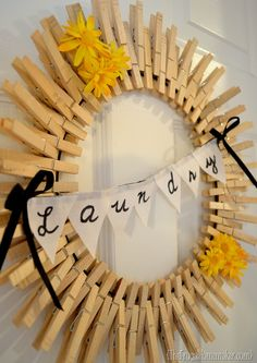 pinterest clothespin crafts | Pinterest inspired project: Clothespin wreath - The Frugal Homemaker ...