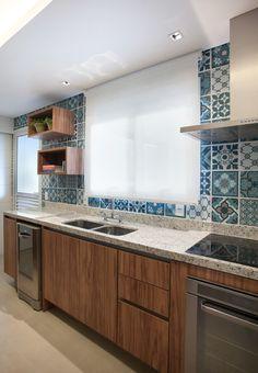 Cozinhas Modernas Revestimentos de azulejo hidraúlico